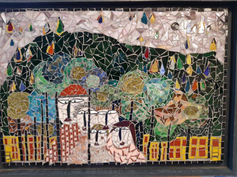 Kanickel-Design – Mosaikausstellung in der Bücherhalle Alstertal